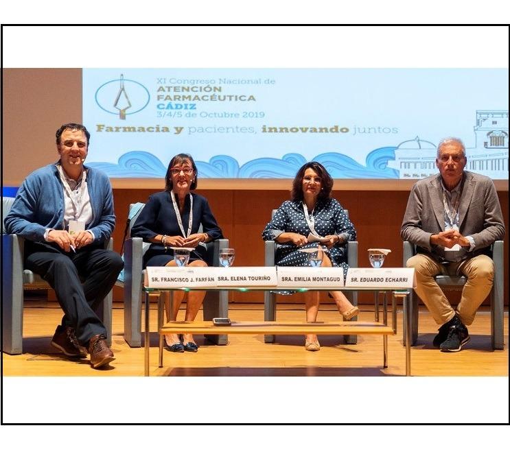 Intervención en el XI Congreso Nacional de Atención Farmacéutica de una colegiada del COFPO