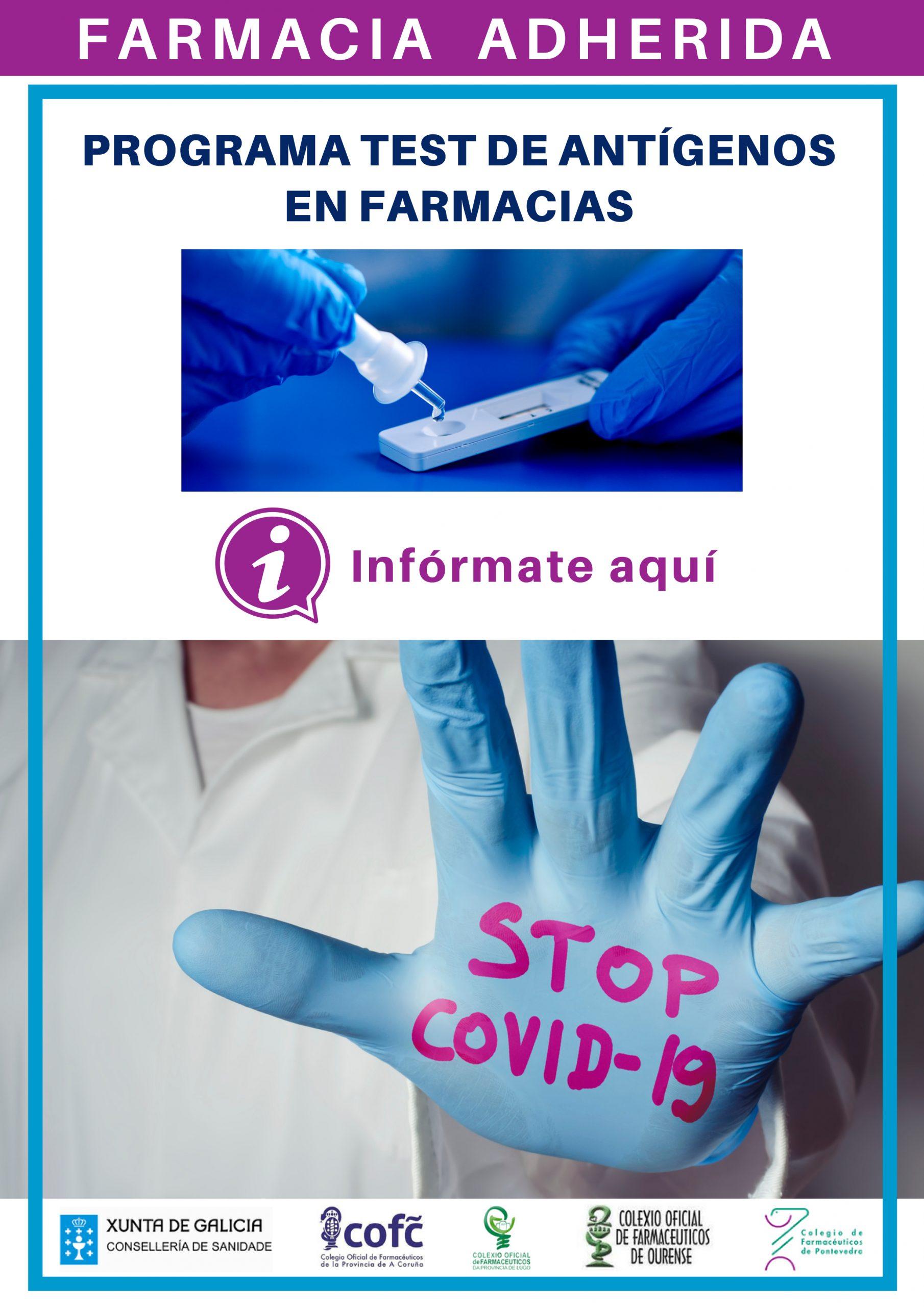 Los farmacéuticos procesan test de autodiagnóstico COVID-19 y comunican el resultado